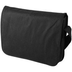 Mission non-woven messenger bag, Non woven 130 g/m² Polypropylene, solid black