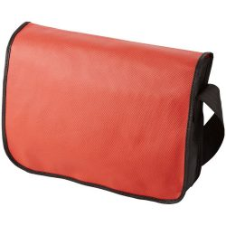 Mission non-woven messenger bag, Non woven 130 g/m² Polypropylene, Red