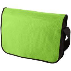 Mission non-woven messenger bag, Non woven 130 g/m² Polypropylene, Lime