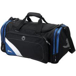 Geanta de umar sport, Everestus, WY, 600D poliester, negru, albastru, saculet de calatorie si eticheta bagaj incluse