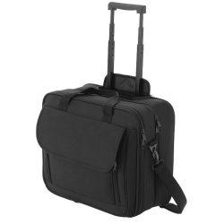 Geanta troler pentru Laptop 15.4 inch, Everestus, BS, 600D poliester, negru, saculet de calatorie si eticheta bagaj incluse