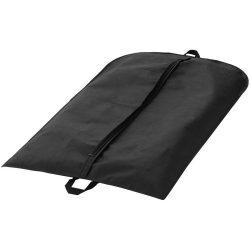 Husa de costum cu maner, fermoar frontal, Everestus, HR01, polipropilena, negru, saculet de calatorie si eticheta bagaj incluse
