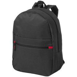 Rucsac cu buzunar frontal, curele captusite ajustabile, Everestus, VR, 600D poliester, negru, saculet si eticheta bagaj incluse