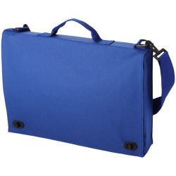 Geanta documente cu maner si bretea ajustabila, Everestus, SF04, poliester, albastru royal, saculet si eticheta bagaj incluse