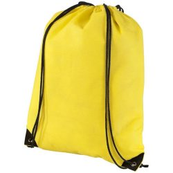 Evergreen non-woven drawstring backpack, Non woven 80 g/m² Polypropylene, Yellow