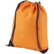 Evergreen non-woven drawstring backpack, Non woven 80 g/m² Polypropylene, Orange