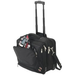Geanta de Postas 17 inch, pentru calatoriile cu avionul, Everestus, PN, nylon si scuba, negru