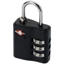 Lacat cu cifru pentru bagaj, Everestus, KD01, metal, negru, saculet de calatorie inclus