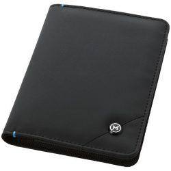 Portofel pasaport securizat RFID, Everestus, OY, tarpaulin, negru, 105x140x10 mm, lupa de citit inclusa
