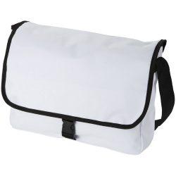 Omaha messenger bag, 600D Polyester, White