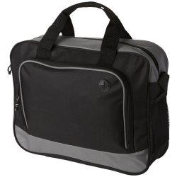 Geanta conferinte cu port pentru casti, buzunar frontal, Everestus, BA, 600D poliester, gri, saculet si eticheta bagaj incluse