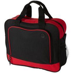 Geanta de conferinte cu port pentru casti, buzunar frontal, Everestus, BA, poliester, rosu, saculet si eticheta bagaj incluse