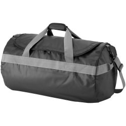 Geanta mare de umar de voiaj, Everestus, NH, tarpaulin, negru, saculet de calatorie si eticheta bagaj incluse