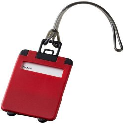 Taggy luggage tag, ABS plastic, Red