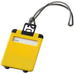 Taggy luggage tag, ABS plastic, Yellow