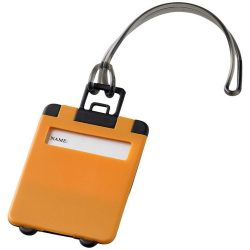 Taggy luggage tag, ABS plastic, Orange