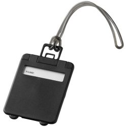 Taggy luggage tag, ABS plastic, solid black