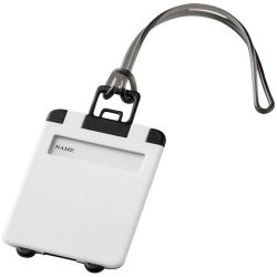 Taggy luggage tag, ABS plastic, White