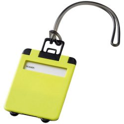 Taggy luggage tag, ABS plastic, Lime