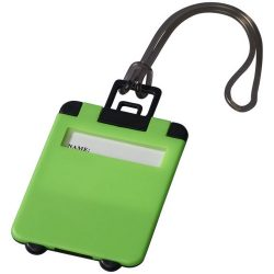 Taggy luggage tag, ABS plastic, neon green