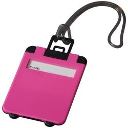 Taggy luggage tag, ABS plastic, neon pink