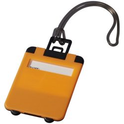 Taggy luggage tag, ABS plastic, neon orange