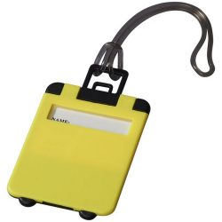 Taggy luggage tag, ABS plastic, neon yellow