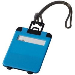 Taggy luggage tag, ABS plastic, neon blue