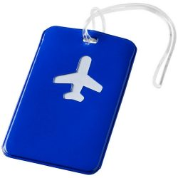 Voyage luggage tag, PVC, Blue