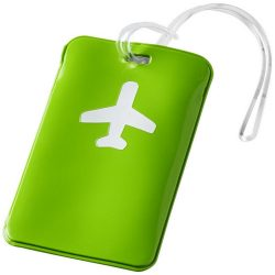 Voyage luggage tag, PVC, Apple Green