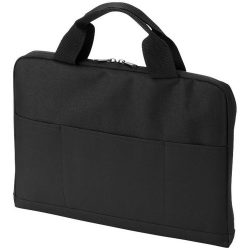 """Iowa 14"""" laptop conference bag, 600D Polyester, solid black,Chrome"""