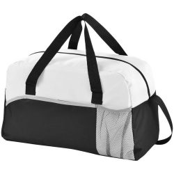 Geanta de umar, poliester 600D si material netesut, Everestus, EY01, negru, alb, saculet de calatorie si eticheta bagaj incluse