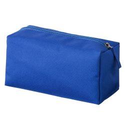 Geanta cosmetice cu fermoar, de voiaj, Everestus, PE02, poliester 300D, albastru, saculet de calatorie inclus