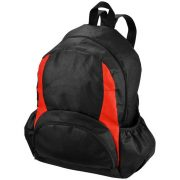 Bamm-Bamm non-woven backpack, Non woven 80 g/m² Polypropylene, solid black, Red