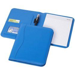 Mapa A5 cu compartimente pentru documente, carnetel 20 pagini, Everestus, EY, piele ecologica, albastru, sac si lupa incluse