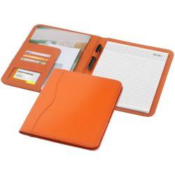 Mapa A4 cu 20 pagini incluse, buzunare pentru documente, Everestus, EY, piele ecologica, portocaliu