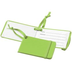 Viaggio luggage tag with elastic band, Leatherrete paper, Lime