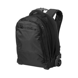 Rucsac troller Laptop, Everestus, LS, 17 inch, 840D nylon, negru, saculet de calatorie si eticheta bagaj incluse