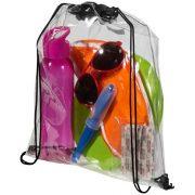 Lancaster transparent drawstring backpack, PVC, transparent clear