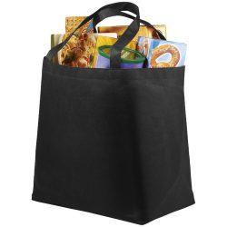 Maryville non-woven shopping tote bag, Non woven 80 g/m² Polypropylene, solid black