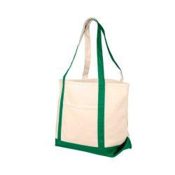 Sacosa pentru cumparaturi, Everestus, HY, panza 610 g/m² bumbac, natur, verde