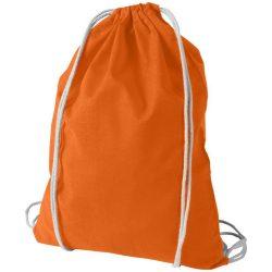 Saculet din bumbac, inchidere cu snur, Everestus, 8IA19064, portocaliu, eticheta de bagaj inclusa