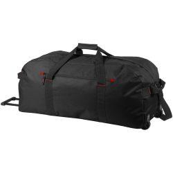 Geanta troler pentru voiaj, Everestus, VR03, 600D poliester, negru, saculet de calatorie si eticheta bagaj incluse