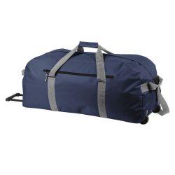 Geanta troler pentru voiaj, Everestus, VR01, 600D poliester, albastru inchis, saculet de calatorie si eticheta bagaj incluse
