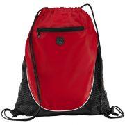 Saculet cu iesire pentru casti si buzunar frontal, poliester 210D, Everestus, 8IA19071, rosu, negru