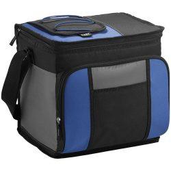Geanta frigorifica pentru 24 doze, buzunar frontal, Everestus, EY, 600D poliester, albastru, negru, pastila racire inclusa