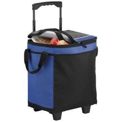 Troler frigorific 32 doze pentru evenimente outdoor, Everestus, RR, 600D poliester, albastru, negru