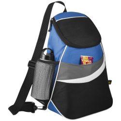 12-Can Cooler Sling, 600D Polyester, solid black,Royal blue