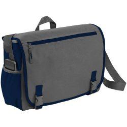 Geanta de Postas/Laptop, Everestus, PH, 15.6 inch, 600D poliester, gri, albastru