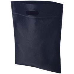 Freedom exhibition tote bag with heat seal, Non woven 80 g/m² Polypropylene, Navy